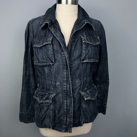 GAP Jackets & Blazers - Gap Limited Ed Distressed Chambray Utility Jacket